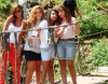 Newset photo of Nina Abdl Malak wearing red pants and a white top in June 2011 at a city in Lebanon after leaving star academy 5