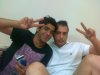photo of the Kuwaiti student of star academy Abdul Salam after leaving star academy with his friend