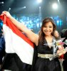 the last prime of star academy 8 on July 15th 2011 picture of Nesma Mahgoub as she wins the title of this season